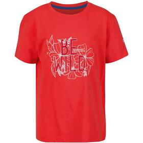 Regatta Bosley III T-Shirt Enfant, fiery coral